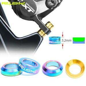 4Pcs Disc Brake Caliper Group XT Mounting Bolts Bike M6 Concave & Convex Spacer