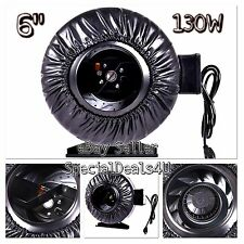"6"" Inch Inline Fan Hydroponics Exhaust Duct Cooling Blower Air Strong CFM Vent"