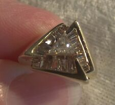 ESTATE ART DECO TRILLIANT DIAMOND RING 14K YELLOW GOLD, 16 BAGUETTES + APPRAISAL