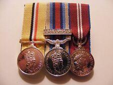 Iraq, OSM Afghanistan, Queens Diamond Jubilee Miniature Medals Mounted Telic