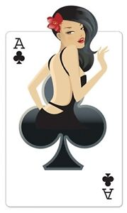 Clubs 'Babe' Playing Card Cardboard Cutout 162cm Tall-Great for Casino Parties