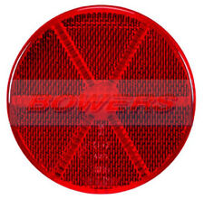 REAR RED ROUND STICK ON ADHESIVE REFLECTOR 85mm TRUCK CAR MOTORCYCLE MOTORBIKE