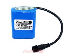 Panasonic 18650B 7.4V 10200mAh Protected Li-ion battery for Bike Light 2S3PM US