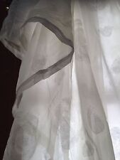 J.C. Penney White Rose Sheer Curtains and Swags
