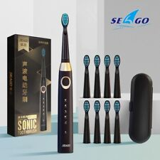 SEAGO E4 5 Cleaning Modes Waterproof Sonic Cleaning Electric Toothbrush + Case