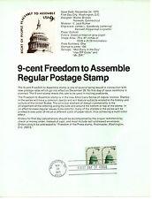 Estados Unidos Documento 1º día año 1975 (BP-469)
