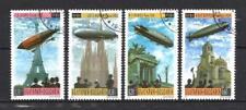 Ballons et Dirigeables Bulgarie (26) série complète de 4 timbres oblitérés