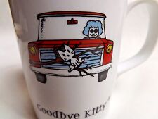 Goodbye Kitty Mug By Stupid Factory and Enesco 2007 Granny & Cat