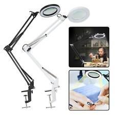 360° USB Magnifier LED Reading Lamp Light Energy-saving For Study Desk Table