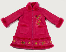 THE CHILDRENS PLACE GIRLS 4T WARM COAT BRIGHT PINK FLORAL FLOWERS TCP