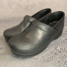 Dansko Professional Clogs Black Leather EU 41 US 10.5/11