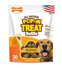 Nylabone All Natural Pop-In Dog Treats Refills 30ct   Free Shipping