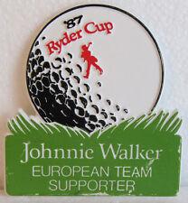 1987 RYDER CUP EUROPEAN TEAM SUPPORTER PLASTIC BADGE-MUIRFIELD VILLAGE