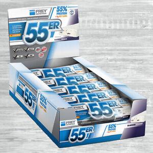 Frey Nutrition 55er Protein Bar 20 x 50g Eiweiß Riegel auch Mix möglich