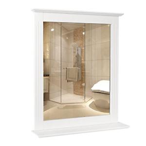 Homfa Wall Mirror Bathroom Vanity Mirror Makeup Mirror Framed Mirror with Shelf