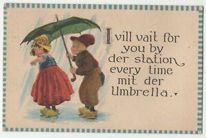 Humorous Comic Postcard mix English & German 1914 #462 1c Washington Pane corner