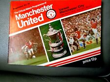 MANCHESTER UNITED V MANCHESTER CITY = 15th MARCH 1978= OFFICIAL MATCH PROGRAMME