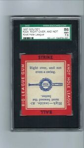 1937 Goudey R325  Knot Hole League  Right Over and Not  SGC  7.5