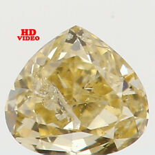 0.13 Ct Natural Loose Diamond Heart Shape Yellow Color 3.30X2.90X1.90MM I1 N5257