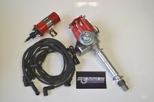 SBC Small Cap HEI Distributor Kit W/ Plug Wires & Coil 283 350 383 OVER COVERS