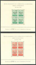 ESPAÑA - HOJAS BLOQUE BARCELONA - NAVIDAD 1942 - EDIFIL 41/42** - MNH