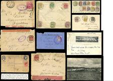 BOER WAR 1900-01 COVERS FRONTS ENVS POSTMARKS CENSORS CEYLON CAMP TPO VRI etc