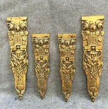 4 antique Art Nouveau furniture ornaments lot bronze France 19th century signed