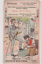 CHROMO ANCIEN PUBLICITAIRE CHOCOLAT GUERIN-BOUTRON/Graphologie/Cireur Chaussure