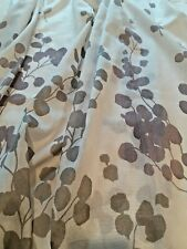 "Shower Curtain   Mainstays   72"" X 72""   White w/Purple and Taupe   MINT"