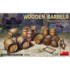 MiniArt 35630 1/35 Wooden Barrels Medium Size Plastic Model Kit