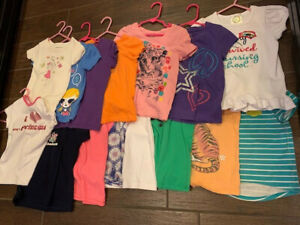 GAP/Old Navy/Children's Place/Hanes - Lot of 15 Girls Shirts - Size 5