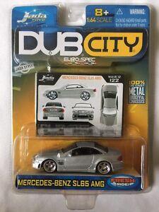 Jada Toys Dub City Euro-Spec Mercedes-Benz SL65 AMG Silver Die Cast 1/64 Scale