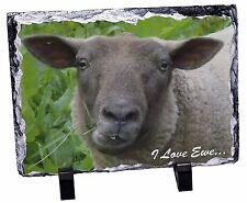 Sheep 'I Love Ewe' Sentiment Photo Slate Christmas Gift Ornament, ASH-10SL