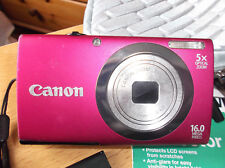 Pink CANON POWERSHOT A2400 IS HD 16MP