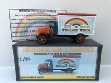 """MATCHBOX MOY CODE 3 1920 AC MACK TRUCK """"THANK YOU NHS & KEY WORKERS 1 OF 20 ONLY"""