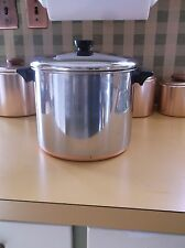 VTG REVERE WARE 8 QT-QUART STAINLESS STEEL+COPPER DUTCH OVEN SOUP STEW STOCK POT