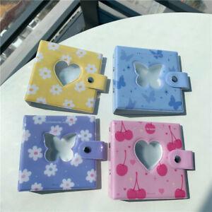 Heart Design Mini Photocard Binder Holder Binder Hollow Photocard Card Pockets