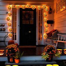 Halloween Pumpkin Lamp LED Fairy Lights Outdoor Indoor Garden Hanging Decoration