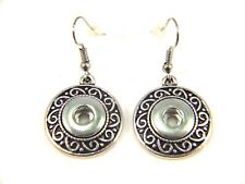 Noosa Style Chunks Mini Snap Button Charms Earrings Ginger Snaps Silver 12mm