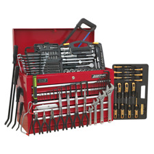 More details for ap225combo sealey topchest 5 drawer with ball bearing slides red 230pc tool kit