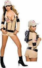 Ladies Ghostbuster Sexy Adult Fancy Costume Halloween Fancy Dress XS