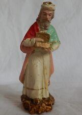 n°48] Santon ancien en plâtre DEVINEAU Melchior (pour crèche de Noël) Christmas