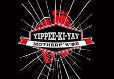 DIE HARD Bruce Willis YIPPEE-KI-YAY MF Poster Art TeeFury NEW TEEVILLAIN T-SHIRT