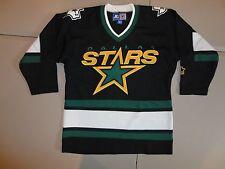 VTG Starter Black & Green SEWN Front Dallas Stars NHL #9 Mike Modano Jersey S/M