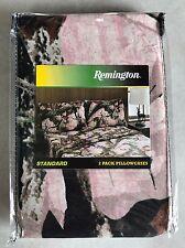 Remington Pink Mossy Oak Camo Camouflage Bed Pillowcase Set Bedding Decor