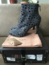 Alaia embroidered suede ankle booties Size 40