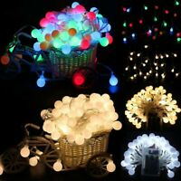 10/20/50LED Fairy String Lights Round Ball Bulbs Christmas Wedding Party Lamp-RO