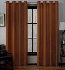 "Exclusive Home Grommet Panels Loha Terracotta Curtain Pair 52"" x 108"" L"