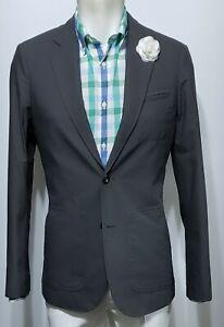 ARMANI EXCHANGE A/X Mens Gray Cotton Casual  1/2 lined Sport Coat Blazer Sz S