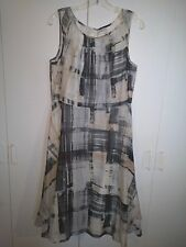 COLDWATER CREEK LADIES SLEEVELESS LIGHTWEIGHT COTTON DRESS-P12-WORN ONCE-NICE